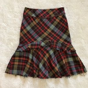 Vintage Anthropologie Elevenses Plaid Skirt Wool 4